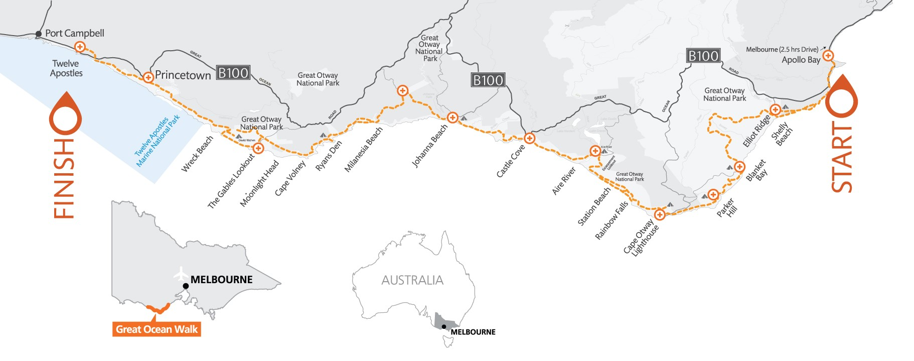 Great Ocean Walk Map Homepage   Great Ocean Road Shuttle
